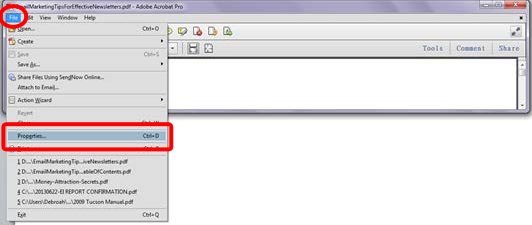Setting your PDF files to open at page 1 Image 3