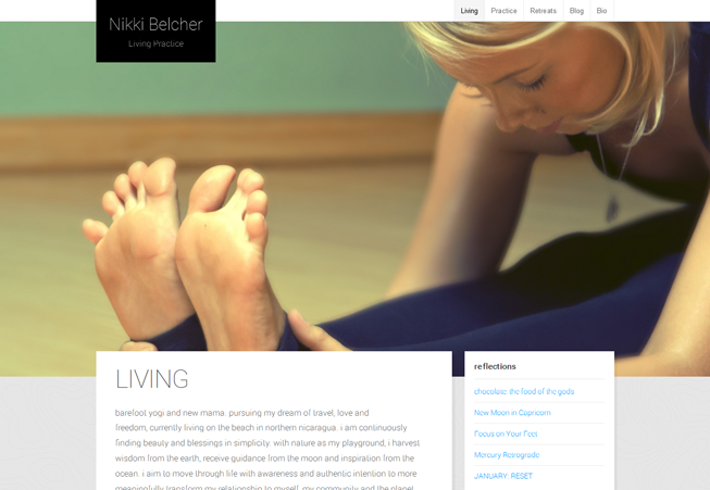 Home page image for website of Nikki Belcher