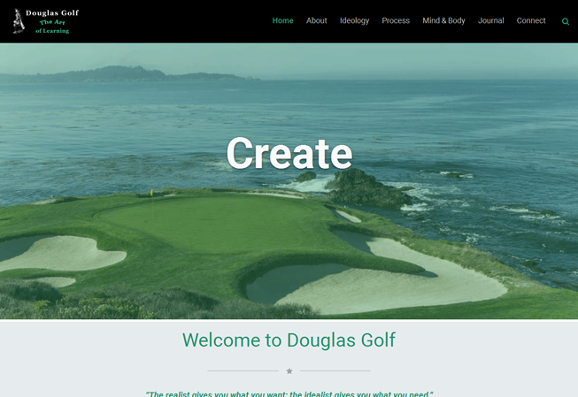 Home page image for website of Douglas Golf