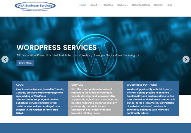 Home page image for website of AVA Business Services